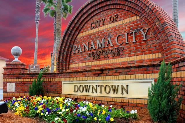 Downtown Panama City Sign