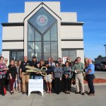 Chamber ambassadors gather to celebrate the grand opening of Jimmy John's.