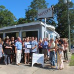 Chamber ambassadors gather to celebrate the grand opening of Grifols Biomat USA.