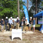 Chamber Ambassadors gather to celebrate the Tyndall Federal Credit Union ground breaking.