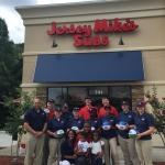 Chamber ambassadors gather to celebrate the grand opening of Jersey Mike's Subs.