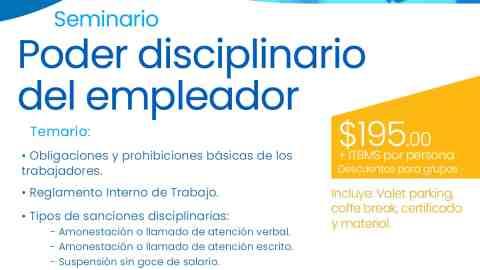 Seminario Poder Disciplinario del Empleador
