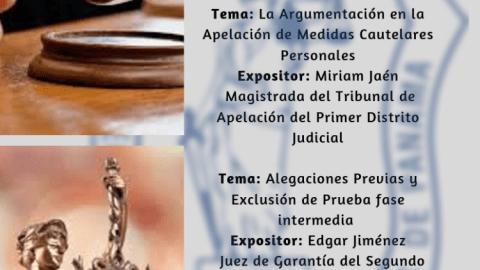 Invitación- 2da Conferencia La Argumentación en la Apelación de Medidas Cautelares Personales