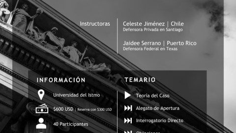 INVITACIÓN- Taller Internacional de Destrezas en Litigación Oral