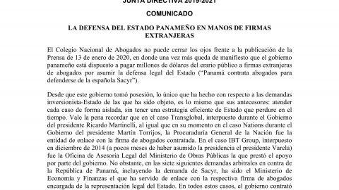 Comunicado: Contratación de Abogados Extranjeros