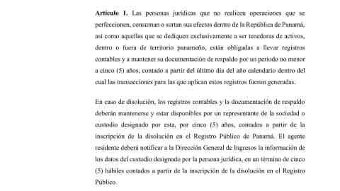 PROYECTO DE LEY QUE MODIFICA LEY 52, QUE ESTABLECE LA OBLIGACIÓN DE MANTENER REGISTROS CONTABLES PAR PERSONAS JURIDICAS