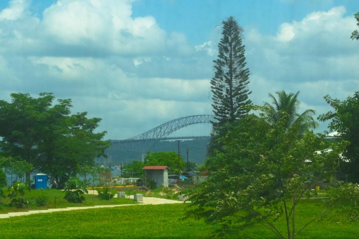 The Bridge of the Americas as seen from Amador Causeway