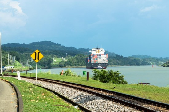 There are a lot of great views of ships transiting the Panama Canal as you drive to Gamboa.