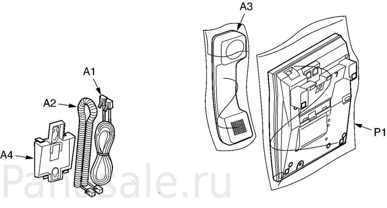 Провод трубки для факса и проводных телефонов Panasonic