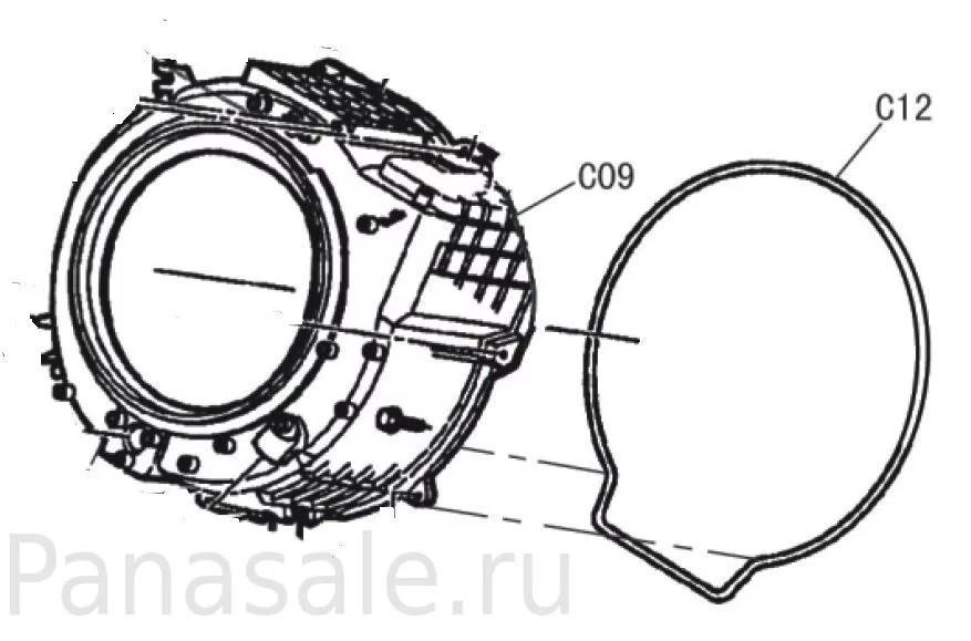 Внутренний бак для стиральной машины Panasonic для модели