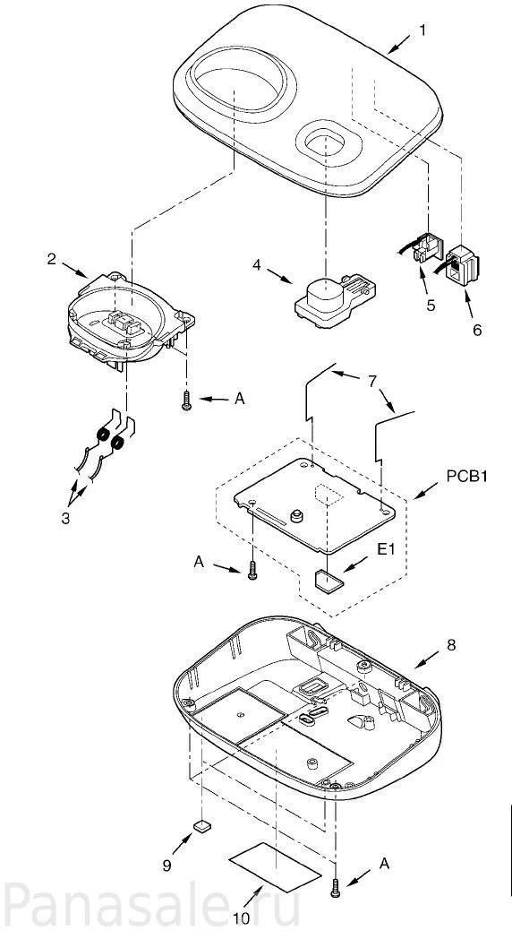 Запасные части для радиотелефона KX-TG8011RU, KX-TG8012RU