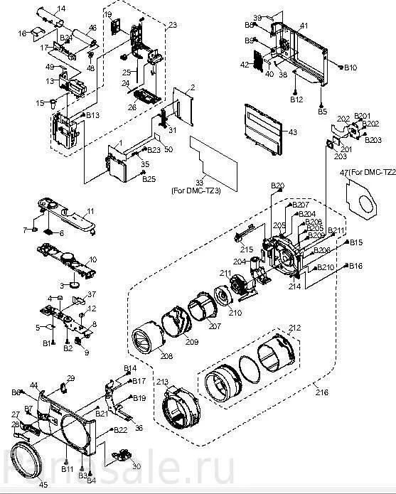 Запасные части и аксессуары для фотокамеры Panasonic