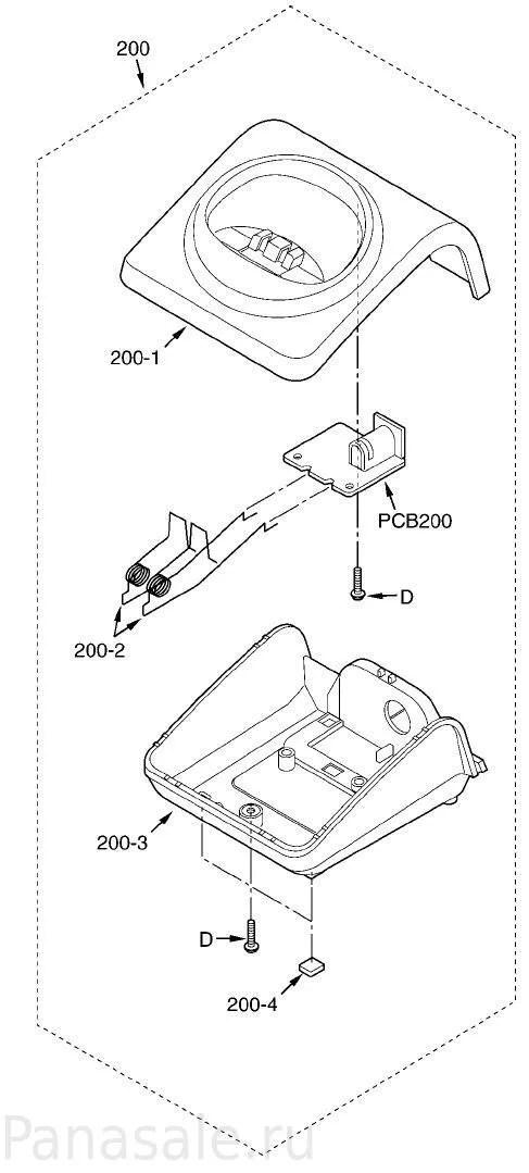 Запасные части для радиотелефонов KX-TG7205RU, KX-TG7206RU
