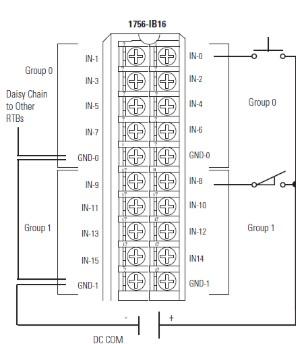 1756-ib16 wiring