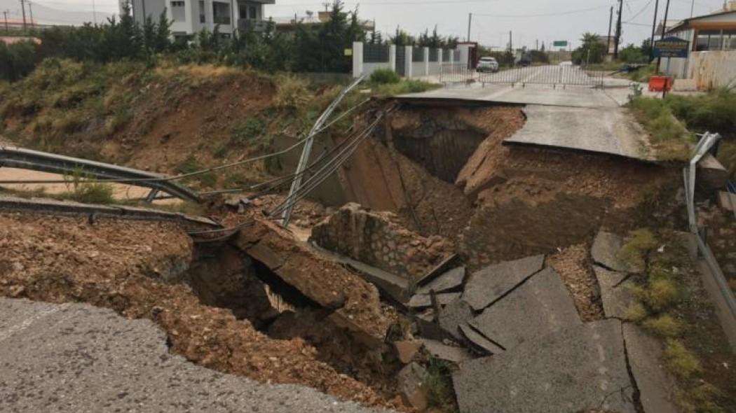 Κυκλώνας Ζορμπάς: Εικόνες σοκ από τα Μέγαρα! Κατέρρευσε γέφυρα (vid) | panathinaikos24.gr