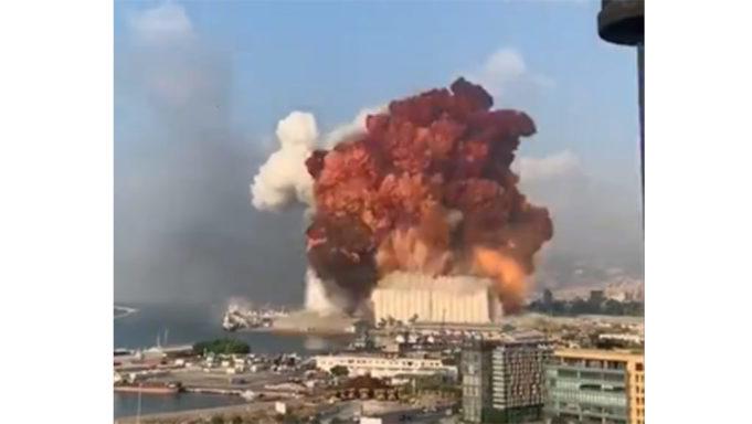 Βίντεο – ΣΟΚ: Ισχυρή έκρηξη σε αποθήκες εκρηκτικών στη Βηρυτό (vid)   panathinaikos24.gr