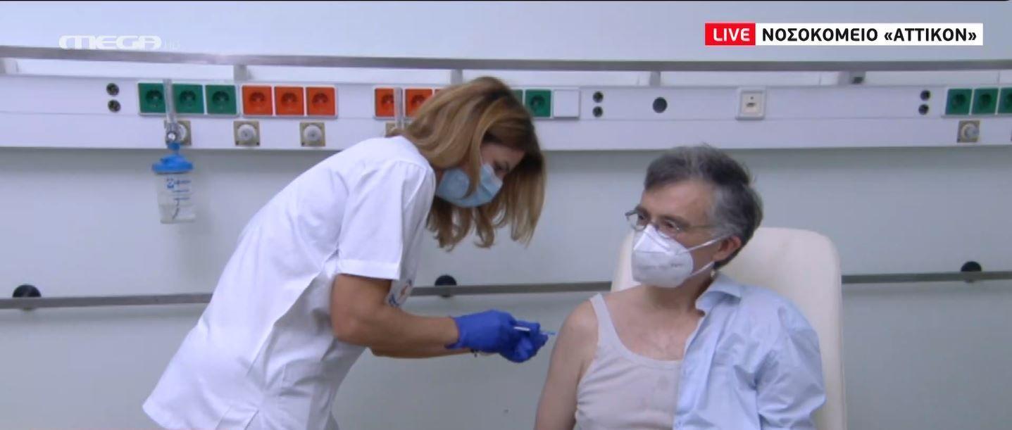 Κορωνοϊός: Εμβολιάστηκε ο καθηγητής, Σωτήρης Τσιόδρας στο «Αττικόν» (vid) | panathinaikos24.gr