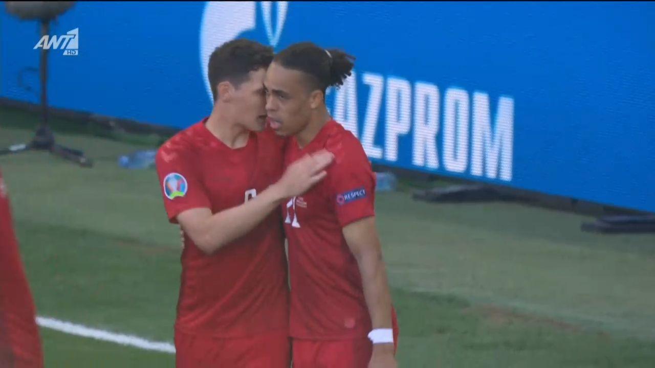 Δανία – Βέλγιο : Ο Πόουλσεν το 1-0 μόλις στο 2′ (vid)   panathinaikos24.gr