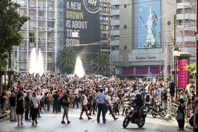 Συγκέντρωση αντιεμβολιαστών σε Σύνταγμα και Ομόνοια – Διαμαρτύρονται για τα μέτρα   panathinaikos24.gr