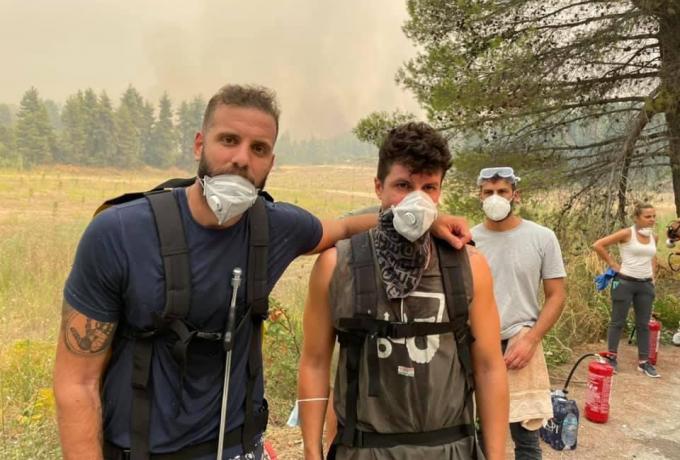 Respect στον Νίκο Παππά: Εθελοντής στη μάχη με τις φωτιές στη Βόρεια Εύβοια | panathinaikos24.gr