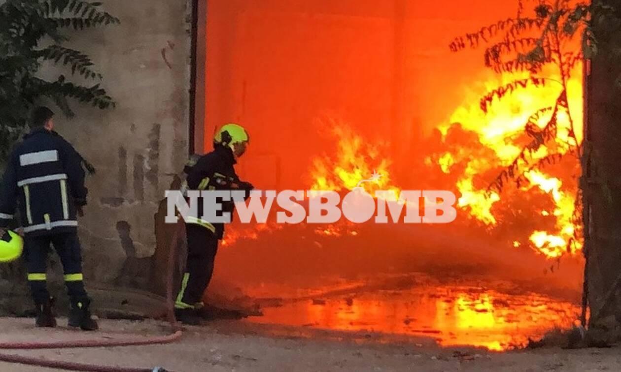 Μεγάλη φωτιά στο κέντρο της Αθήνας!   panathinaikos24.gr