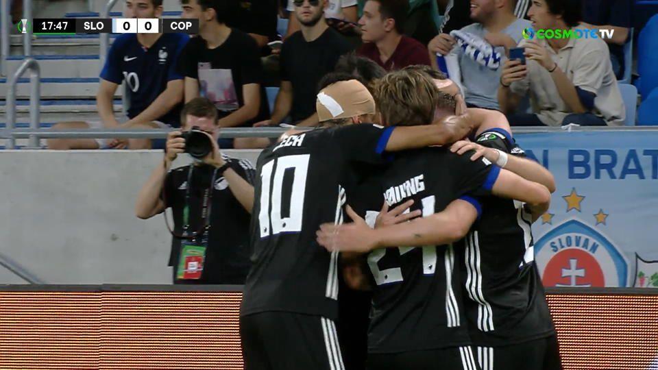 Σλόβαν – Κοπεγχάγη: Με δύο κεφαλιές το 1-1 σε 20 λεπτά (vid) | panathinaikos24.gr