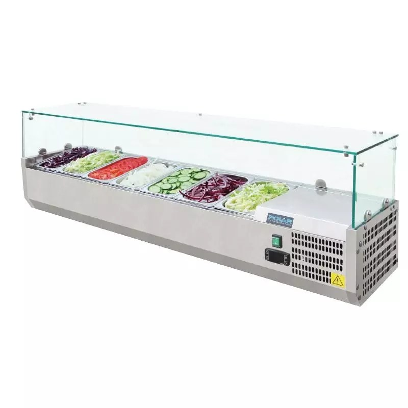 Polar Refrigerated Counter Top Servery Prep Unit 7x 14GN