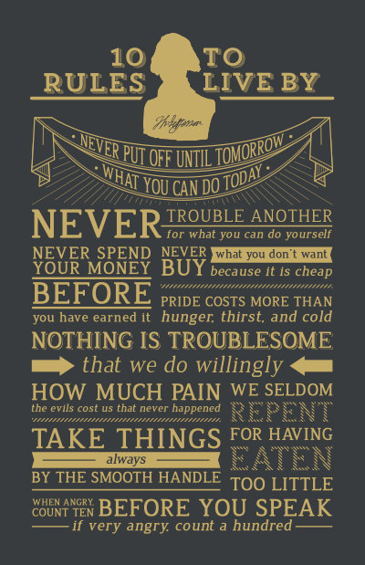 Thomas Jefferson's 10 Rules of Conduct | Print by Beautifuseful on Etsy