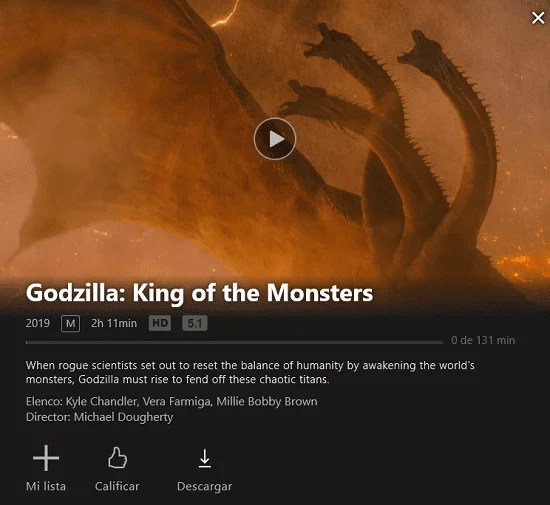 Donde ver Godzilla 2King of the Monsters