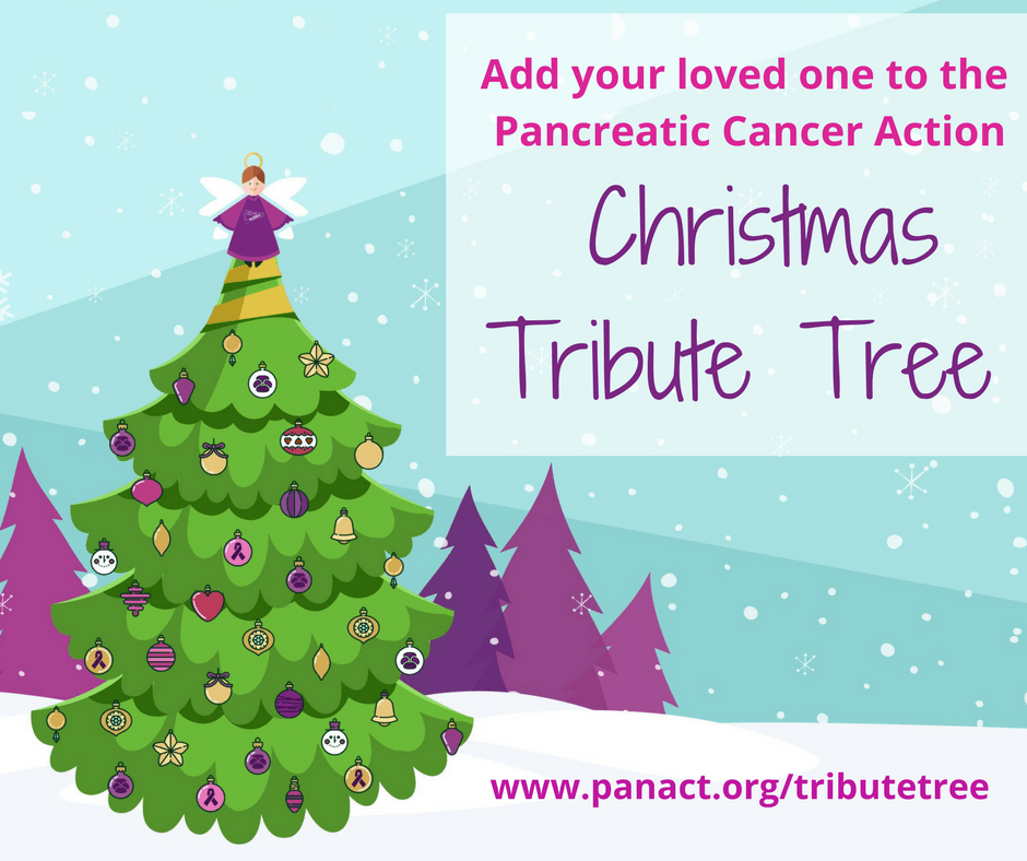 Pancreatic Cancer Action Christmas Tribute Tree