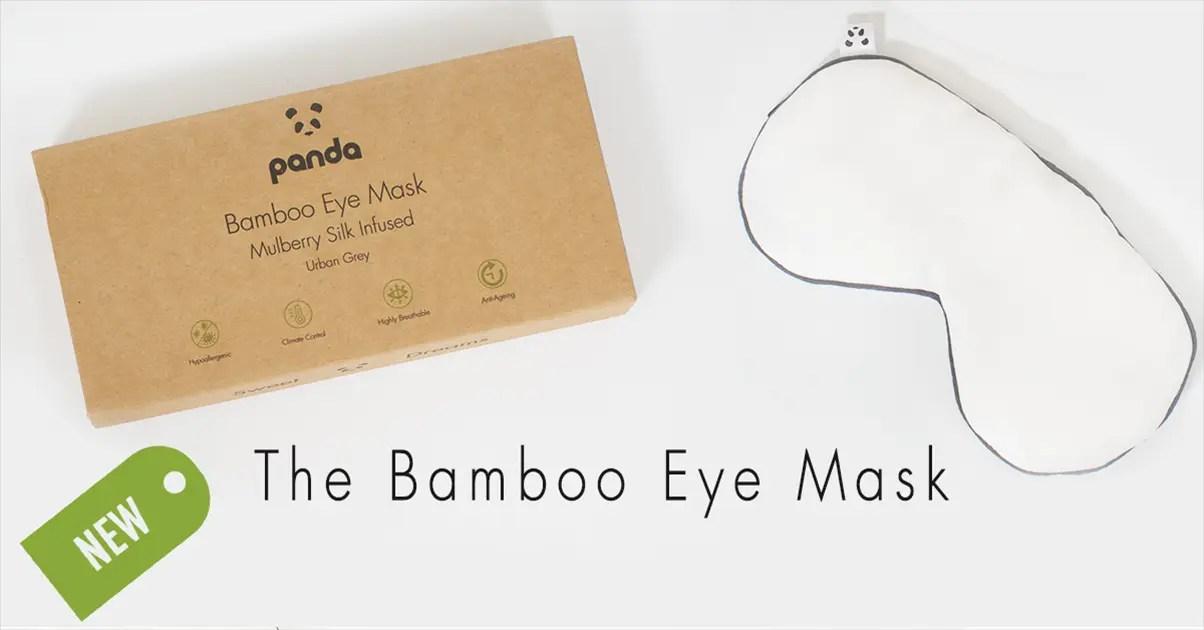 Panda Bamboo Eye Mask - Mulberry Silk Infused