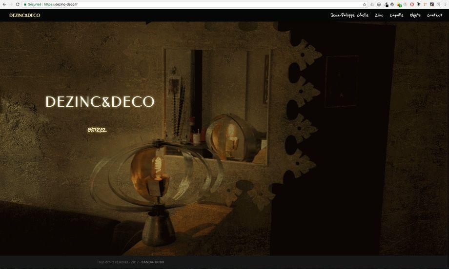 dezinc-deco.fr - page Accueil