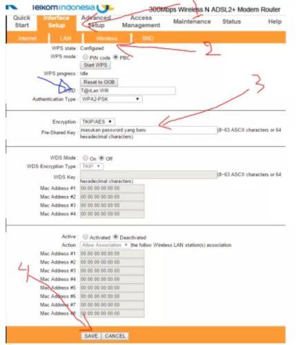cara mudah mengganti password wifi