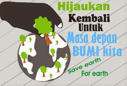 Contoh Gambar Poster dan Slogan Bertema Lingkungan Hidup