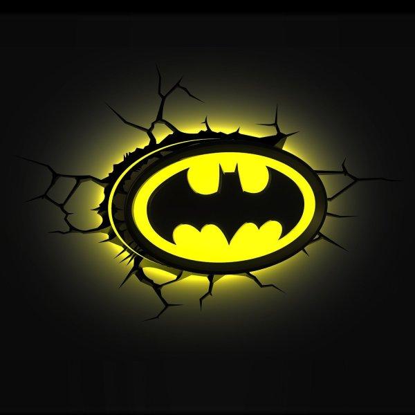 Batman Logo Wandlampe 3D
