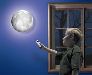 Mond Wandlampe 3D