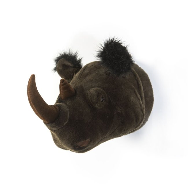Plüsch Tierkopf-Trophäe Nashorn Michael
