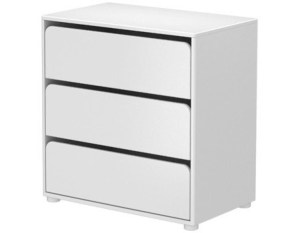 Flexa Kommode mit 3 Schubladen / Weiss