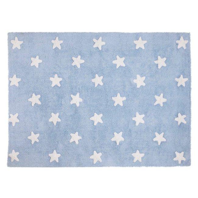 Lorena Canals Kinderteppich Blau Weiss