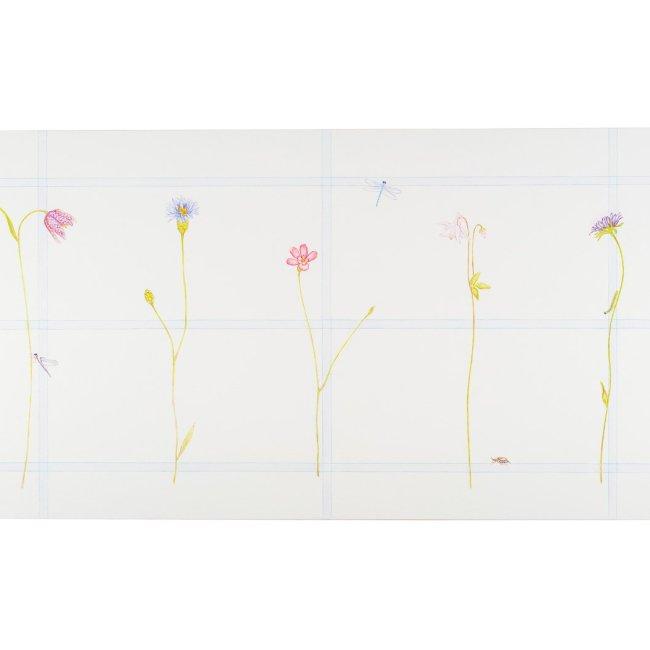 Schreibtisch Gartenblumen