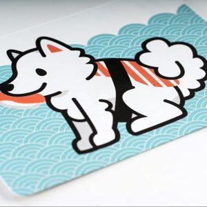 Carte Postale Samoyede Sushi