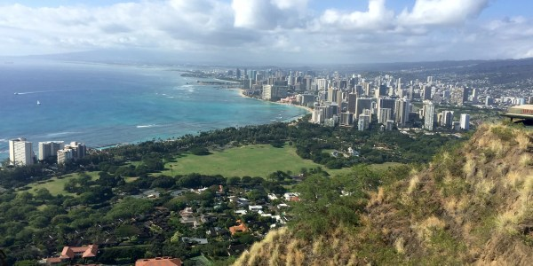 Looking at Waikiki from Diamond Head