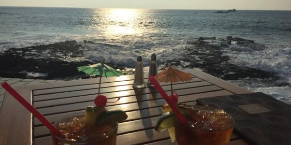 Birthday mai tai cocktails