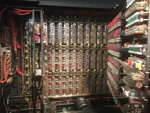 inside a reconstructed Bombe machine