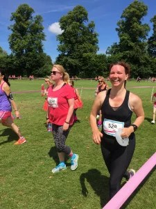 me running the Cambridge 10k Race for Life