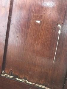 cuts in door