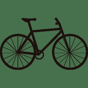 Icono de bicicleta - ilustración en vectores