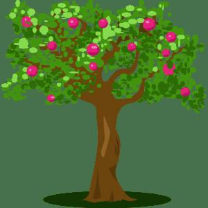 Árbol frutal - Ilustración en vectores