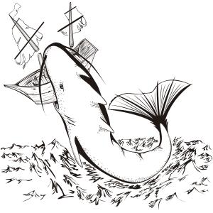 Monstruo marino - Ilustración en vectores