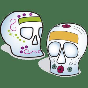 Calaveritas de azúcar - Ilustración en vectores